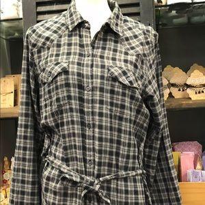 Gap new plaid dress with tie
